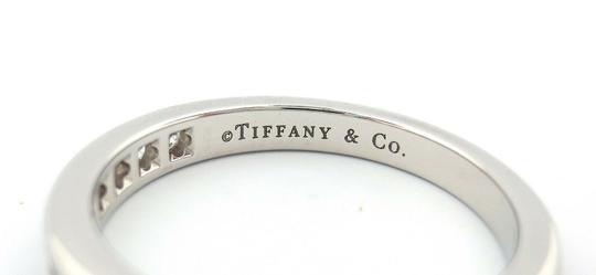 Tiffany & Co. .33ct Diamond 3mm Channel Shared Setting Eternity Wedding Band Ring Image 2