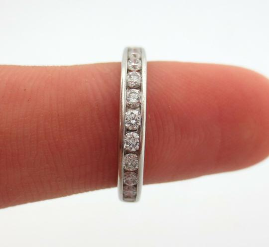 Tiffany & Co. .33ct Diamond 3mm Channel Shared Setting Eternity Wedding Band Ring Image 5