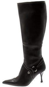 Céline Leather Pointed Toe Brown Boots