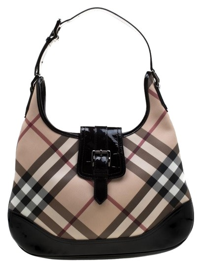 Burberry Patent Leather Hobo Bag Image 0