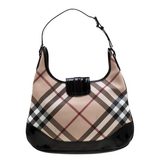 Burberry Patent Leather Hobo Bag Image 1