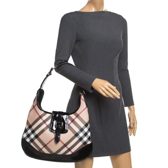 Burberry Patent Leather Hobo Bag Image 2