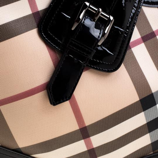 Burberry Patent Leather Hobo Bag Image 6