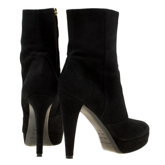 Sergio Rossi Suede Platform Ankle Black Boots Image 2