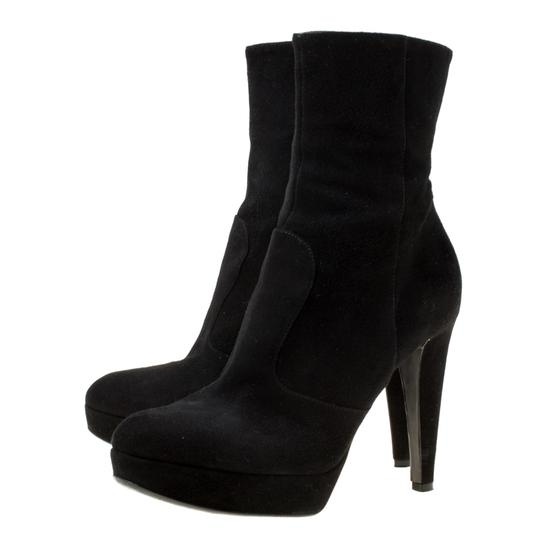 Sergio Rossi Suede Platform Ankle Black Boots Image 3
