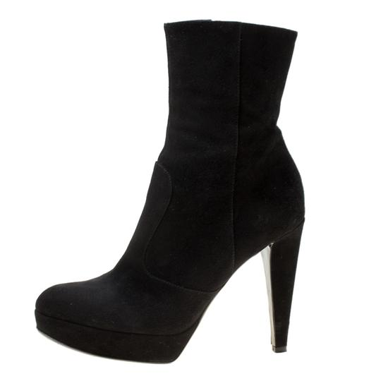Sergio Rossi Suede Platform Ankle Black Boots Image 4