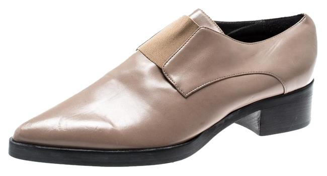Item - Beige Faux Leather Frankie Pointed Toe Elastic Detail Loafers Flats Size EU 39 (Approx. US 9) Regular (M, B)