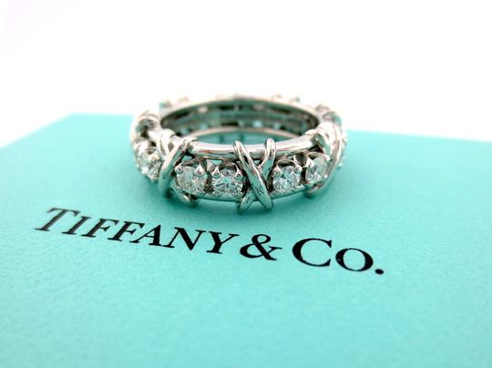 Tiffany & Co. Tiffany & Co Platinum Jean Schlumberger 16 Stone Diamond Ring 1.14CT Image 1