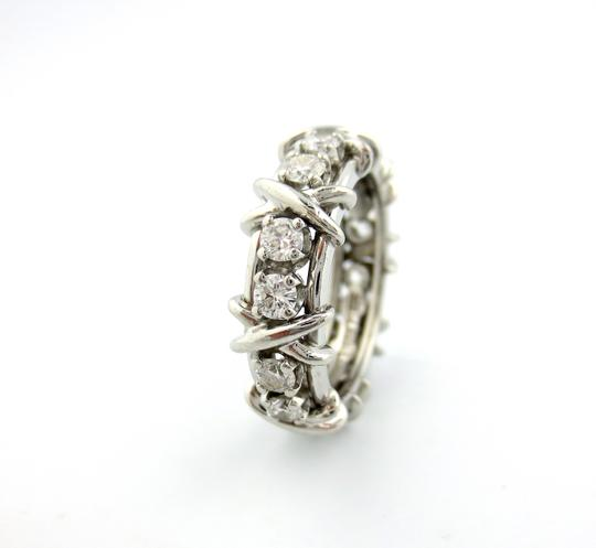 Tiffany & Co. Tiffany & Co Platinum Jean Schlumberger 16 Stone Diamond Ring 1.14CT Image 5
