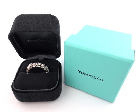 Tiffany & Co. Tiffany & Co Platinum Jean Schlumberger 16 Stone Diamond Ring 1.14CT Image 7
