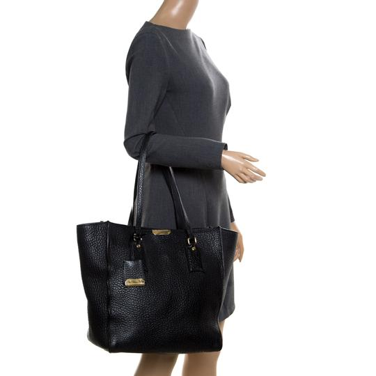 Burberry Leather Tote in Black Image 2