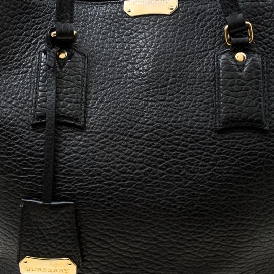 Burberry Leather Tote in Black Image 8