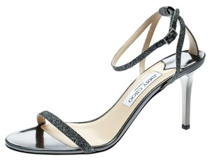 Jimmy Choo Ankle Strap Leather Grey Sandals