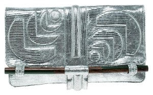 Jamin Puech Leather Silver Clutch