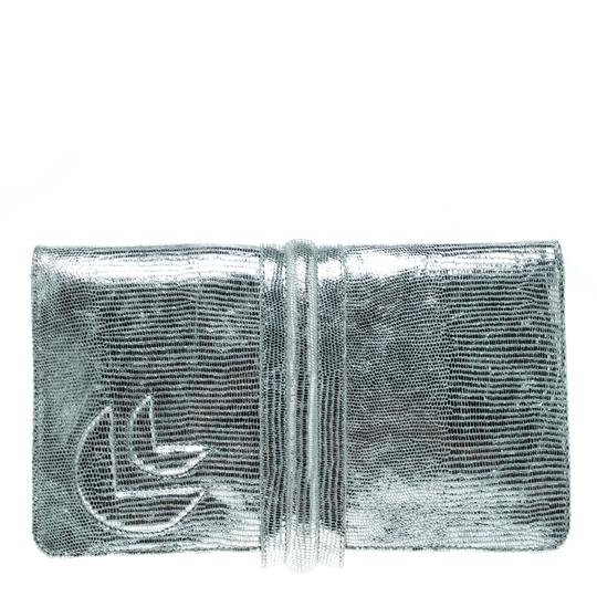 Jamin Puech Leather Silver Clutch Image 1