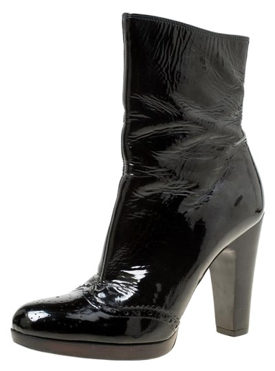 Miu Miu Patent Leather Ankle Black Boots Image 0