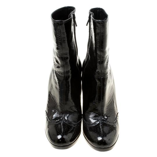 Miu Miu Patent Leather Ankle Black Boots Image 1