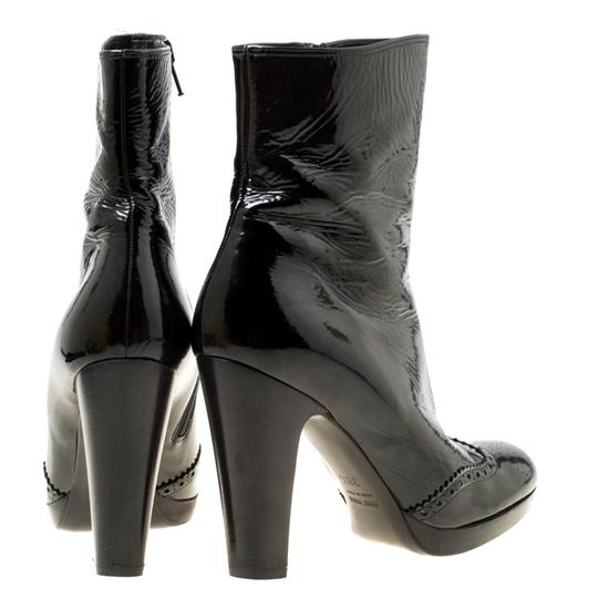 Miu Miu Patent Leather Ankle Black Boots Image 2