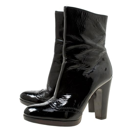 Miu Miu Patent Leather Ankle Black Boots Image 3