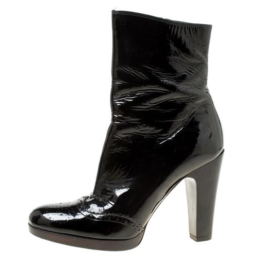 Miu Miu Patent Leather Ankle Black Boots Image 4