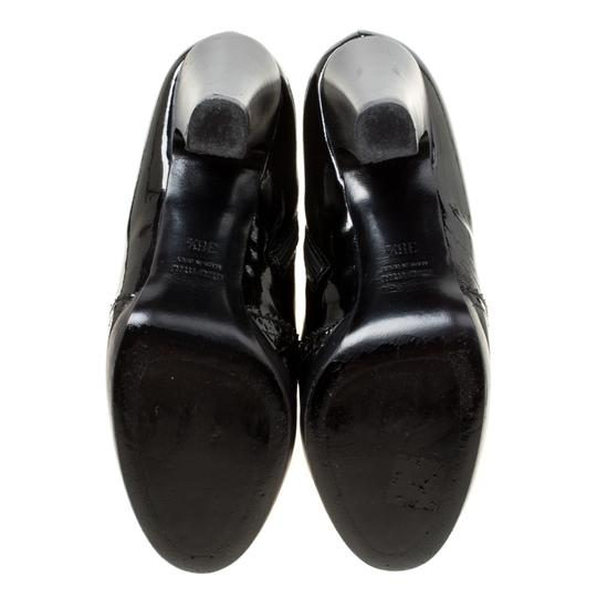 Miu Miu Patent Leather Ankle Black Boots Image 5