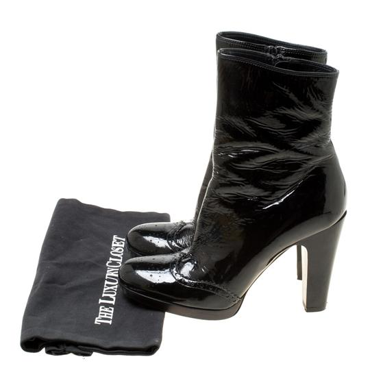 Miu Miu Patent Leather Ankle Black Boots Image 7