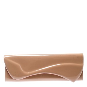 Christian Louboutin Patent Leather Leather Beige Clutch