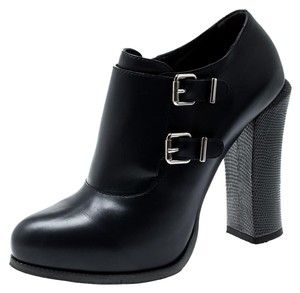 Fendi Leather Ankle Blue Boots
