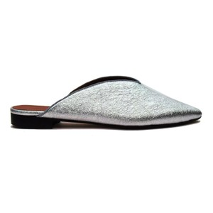 Summit by White Mountain Katniss Pointy Silver Glitter Mules