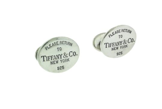 Tiffany & Co. Return to Tiffany & Co cufflinks in sterling silver used Image 2