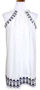 Romeo & Juliet Couture short dress White Blue on Tradesy