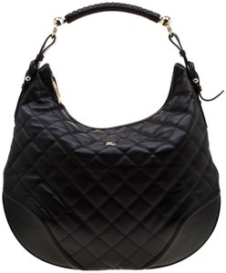 Burberry Quilted Leather Hobo Bag