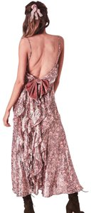 pink and gold Maxi Dress by LoveShackFancy
