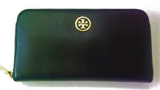 Tory Burch NEW Tory Burch Robinson Continental Black Saffiano Leather Wallet Image 1