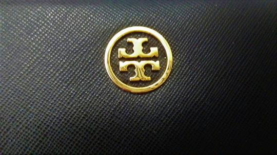 Tory Burch NEW Tory Burch Robinson Continental Black Saffiano Leather Wallet Image 2