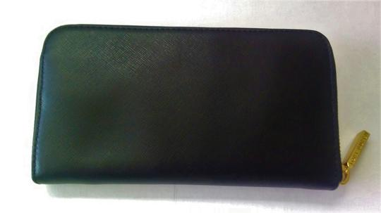 Tory Burch NEW Tory Burch Robinson Continental Black Saffiano Leather Wallet Image 4