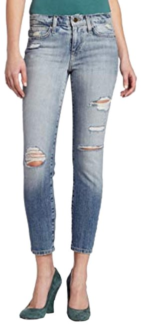 Item - Blue Distressed The High Water Skinny Jeans Size 28 (4, S)