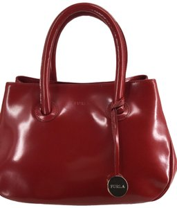 Furla Tote in Apple Red