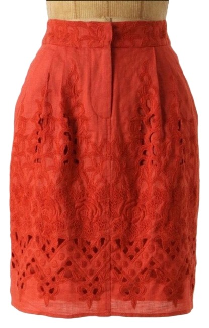 Item - Red/ Orange Yoanna Baraschi Tomato Picking Skirt Size 0 (XS, 25)