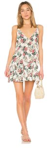 Beach Riot short dress Creme & pink on Tradesy