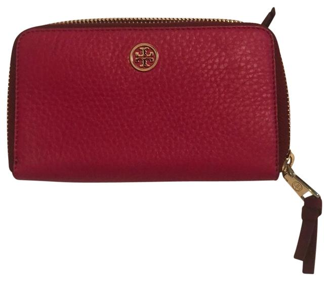 Item - Magenta Robinson Tumbled Leather Wallet
