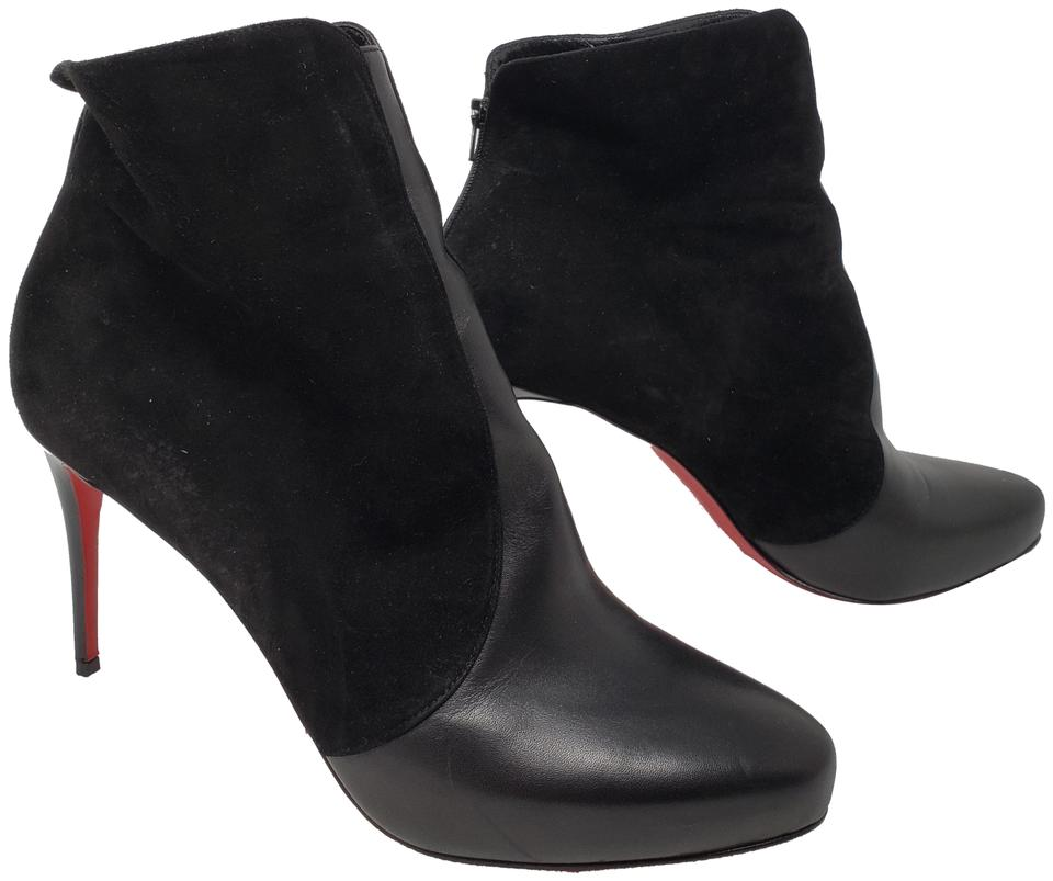 3a67e623dbf Christian Louboutin Black Suede Round-toe Ankle Boots/Booties Size EU 41  (Approx. US 11) Regular (M, B) 44% off retail