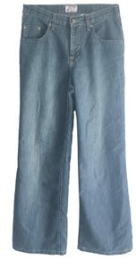 French Dressing Jeans Trouser/Wide Leg Jeans-Medium Wash