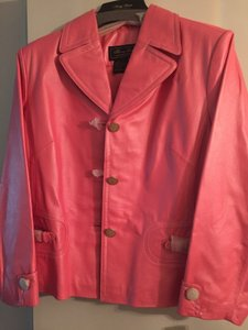 6ad907990d3 Terry Lewis Classic Luxuries Hot pink Leather Jacket