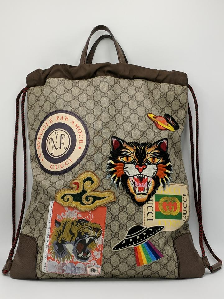 beeee8a57 Gucci Tote Bag Gg Supreme Monogram Patches Backpack - Tradesy