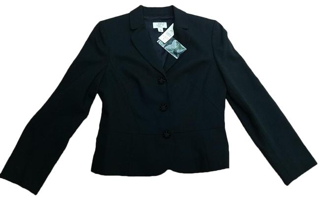 Item - Black Fitted with Velvet Buttons Blazer Size Petite 8 (M)