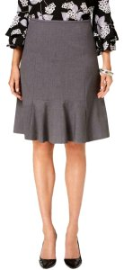 Nine West Evening Business Office Work Skirt grey