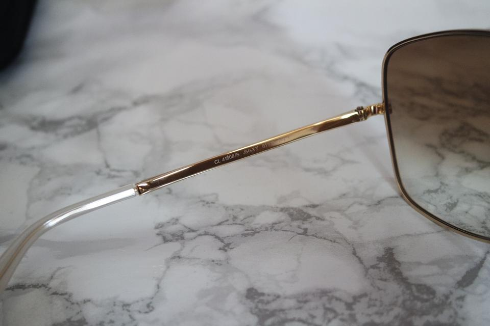 1b6c5053f Céline NEW Celine CL 41808/S Gold Brown Oversized Square Aviator Sunglasses  Image 11. 123456789101112
