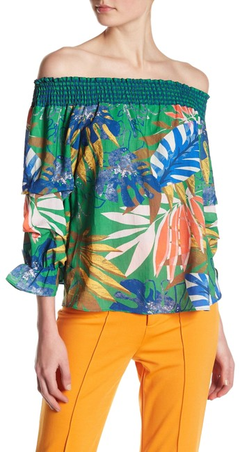 Item - Tropical Off Shoulder Blouse Size 4 (S)