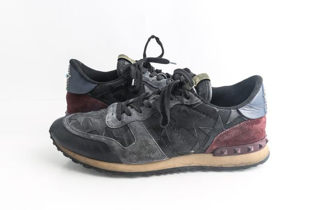 Item - Black 'rockrunner' Star Leather Sneakers Shoes